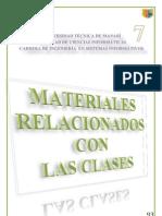 Materiales relacionados con la clase