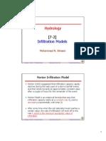 7-2 Infiltration Models