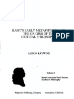 Alison Laywine - Kants Early Metaphysics and the Origins of the Critical Philosophy