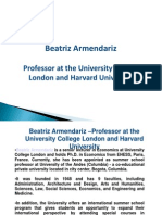 Beatriz Armendariz –Professor at the University College London and Harvard University