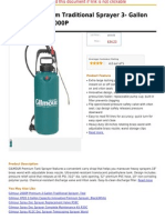 Gilmour Premium Traditional Sprayer 3- Gallon Capacity Teal 3000P