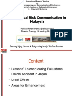 Mishar- Radiological Risk Communication in Malaysia