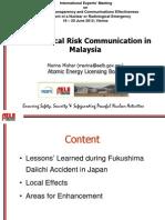 Mishar- Radiological Risk Communication in Malaysia