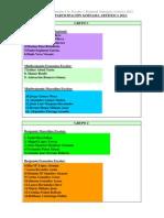 ORDEN DE PARTICIPACIÓN ARTISTICA 2012
