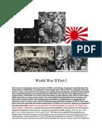 World War II Part I