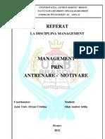 Management Prin Antrenare- Motivare ( Ugb)