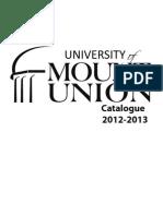 University of Mount Union Undergraduate Catalogue 2012-2013