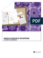 Houses in Multiple Occupation - A Guide for Landlords