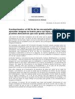 Comunicado de prensa sobre el estudio sobre conocimientos lingüísticos en la UE. Junio 2012
