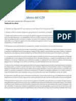 Declaracion Lideres G20 Junio2012 Mexico