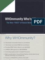 Get Familiar With WHOmmunity