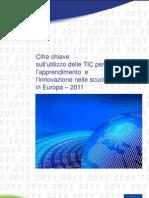 Cifre chiave sull'utilizzo delle TIC per l'apprendimento e l'innovazione nelle scuole in Europa