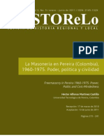 La masonería en Pereira, 1960-1975. Héctor Martínez
