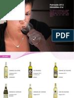 Selection des vin de Genève médailles 2012