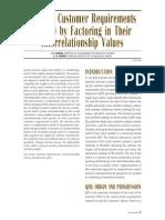 QFD Factor Raking