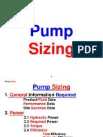 Pump Sizing