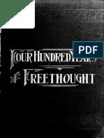 400 Years of Freethought (1894) Putnam, Samuel Porter, 1838-1896