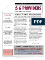 Payers & Providers California Edition – Issue of June 21, 2012
