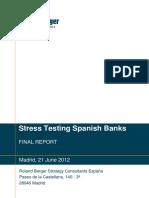 Auditoría a la banca española de Roland Berger