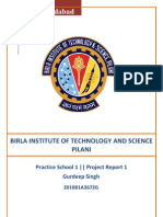 Project Report 1 BITS Pilani