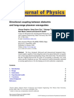 Directional Coupling Between Dielectric and LRSPP