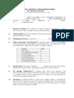 Specimen Work Agreements UAE