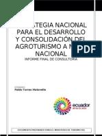 Consultoria Estrategia Nacional de Agroturismo