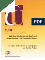 Full-Time Kindergarten in Battlefords School Division evaluation report (2005)