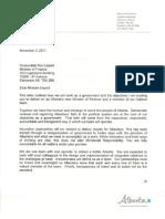 Finance Mandate Letter