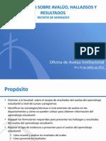 Avaluo Institucional PUCPR 2012