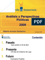 Analisis Politico 2009 Ppt