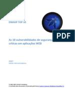 Owasp Top 10 2007 Pt-br - Seguranca Web
