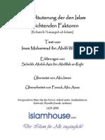 Die Erläuterung der den Islam vernichtenden Faktoren - [Scharch Nauaqid-ul-Islam]