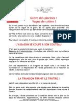 Piscines Grève du 19 juin 2012