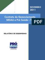 Pró-Saúde - SESAU-TO - PRESTAÇÃO DE CONTAS - Novembro - 2011