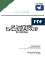 Uso y calibración de deflectometros de Impacto