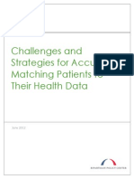 Challenges and Strategies for Accurately Matching Patients to Their Health Data