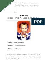San Juan Crisóstomo - PATROLOGÍA