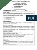 Algebra Lineal Plan 2009 IPN