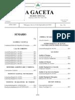 Constitucion Politica de La Republica de Nicaragua