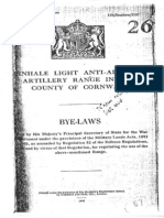 Penhale Light Anti Aircraft Artillery Range Byelaws