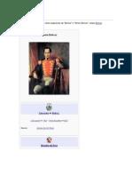 la vida del libertador Simón Bolívar