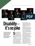 Disability - it's no joke