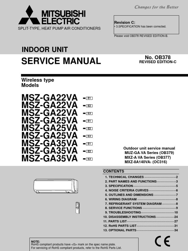 Mitsubishi Electric - Service Manual 0B378 | Power Supply | Antenna (Radio)
