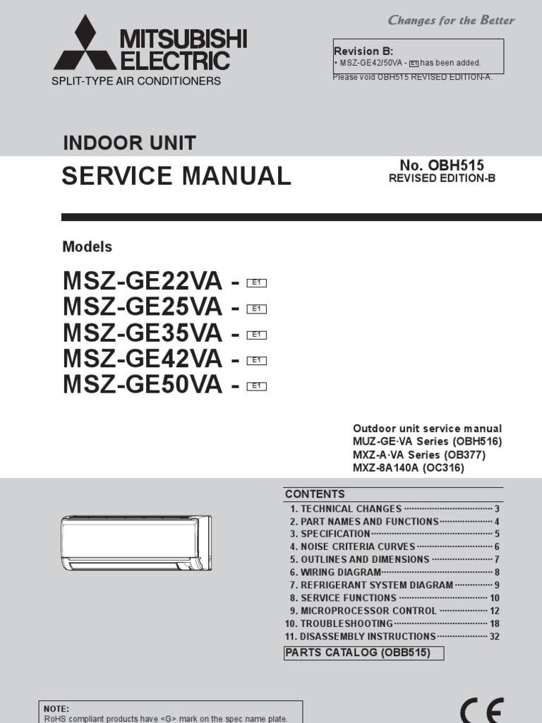 Mitsubishi Electric - Service Manual OBH515 | Antenna (Radio) | Air  Conditioning