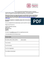 Report Solicitor Form 1