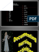 Documenting Nursing Activities