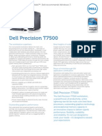 Dell Precision T7500 Spec Sheet English
