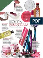 April 2011 Beauty Essentials