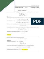 Corrección Segundo Parcial, Cálculo III, 19 de junio de 2012